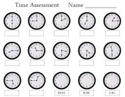 telling time assessment worksheet 52 best time unit images on teaching math teaching
