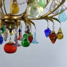 Teal Glass Chandelier Flowers And Fruits Murano Glass Chandeliers Venice Arte