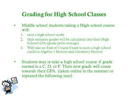online geometry class for high school credit middle school course selection parent forum ppt online