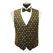 mardi gras vests mardi gras fleur de lis vest and bow tie set