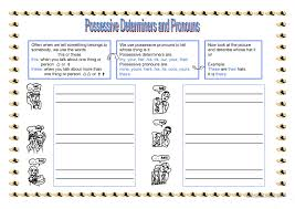 3 free esl possessive determiners worksheets