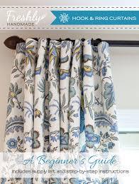 How To Make Basic Curtains Freshly Handmade Tutorial How To Make Hook U0026 Ring Curtain Panels