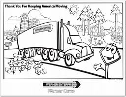 thank you for keeping america moving coloring page tiny truckers