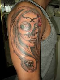 sugar skull customskinstattoo