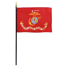 First Navy Jack Flag Military Stick Flags 4 X 6 Inch Military Flags