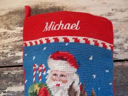 personalized needlepoint for michael
