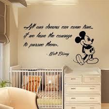 Nursery Sayings Wall Decals Nursery Sayings Wall Decals Mickey Mouse Wall Decals Quote Dreams