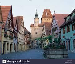 bavaria city clock cobblestone germany europe holiday