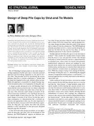 pile cap design deep foundation strength of materials