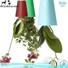 upside down hanging plant pots sky planters plastic plastic
