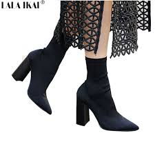 s boots calf aliexpress com buy lala ikai mid calf s boots pointed toe