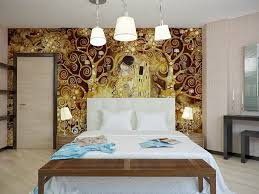 bold artistic wall decorations for bedroom artistic gold brown