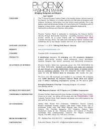 Event Fact Sheet Template Fashion Week 2014 Sponsor Kit