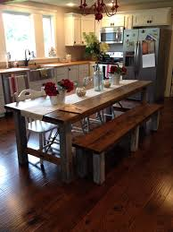 kitchen unusual dining room table with bench seat farm table