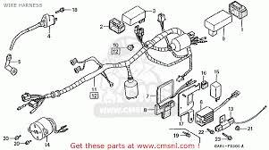 honda z50jn monkey baja japan wire harness schematic partsfiche