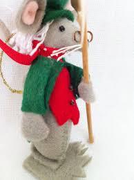 vintage felt ebenezer scrooge mouse christmas ornament whimsical