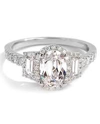 oval wedding rings oval engagement rings for the to be martha stewart weddings