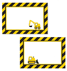 construction party printables free free printables pinterest
