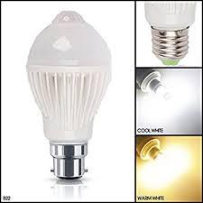 pir led light bulb msc 5 watt 450 lumen b22 motion and light sensitive pir led light