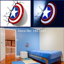 aliexpress buy 3d light captain america shield bed lights