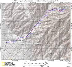 Death Valley Map Moonlight Canyon Und Moonlight Natural Bridge Death Valley