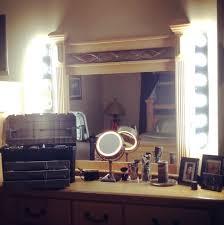 diy makeup vanity lighting home design ideas