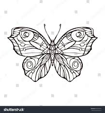 butterfly isolated line art stock vector stock vector 562607932