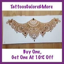 chest back tattoo gold henna tattoo under the breast temporary