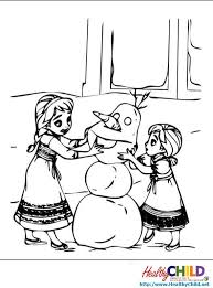 young elsa anna frozen coloring pages