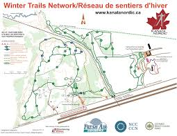 Map Letters Trails Map Kanata Nordic