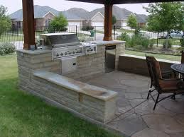 Outdoor Kitchen Blueprints Simple Outdoor Kitchen Design And Decoration Using Natural White