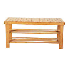 Shoe Storage With Seat Or Bench - bamboo shoe rack ebay