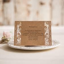 enclosure cards vintage rustic laser cut wedding invites with matching enclosure