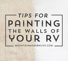 what type of paint to use on rv cabinets tips for painting the walls of your rv mountainmodernlife