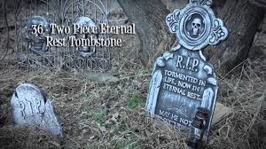 halloween headstones r i p tombstone halloween decor youtube