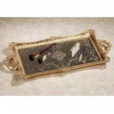 Gold Coffee Table Tray by Bed U0026 Bath Exquisite Mirrored Tray For Sparkling Home Accessories