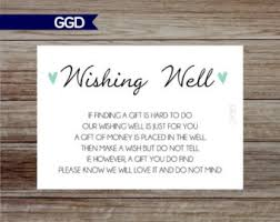 gift card bridal shower wishing well cards etsy