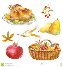 thanksgiving watercolor clipart stock illustration image 80605187