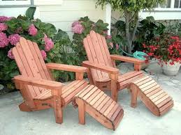 Patio Chairs With Ottomans by Redwood Adirondack Chair Custom Wood Adirondack Chairs