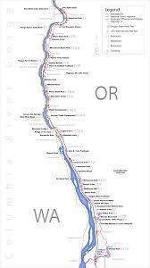 Oregon Waterfalls Map maps columbia river gorge