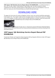 1997 jaguar xj6 workshop service repair manual pdf download