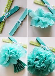 Baby Blue Wedding Decoration Ideas Pink Theme Party Ideas Tissue Paper Pom Poms Honeycomb Balls Paper