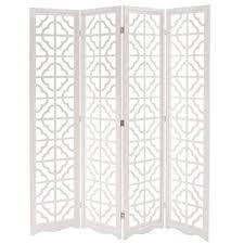 Folding Room Divider Amazon Com Mygift Folding Wood 4 Panel Screen Moroccan Cutout