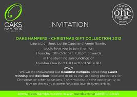 oaks hampers christmas gifts launch event bed and breakfast