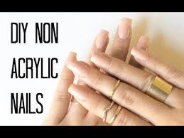 diy non acrylic nails youtube
