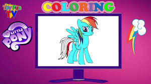 my little pony rainbow dash coloring book computer color page