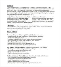 Resume Hair Stylist Sample Resume Hair Stylist Professional Resumes Sample Online