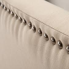 Upholstered Nailhead Headboard by Zinus Upholstered Arched Nailhead Headboard Full Queen Taupe