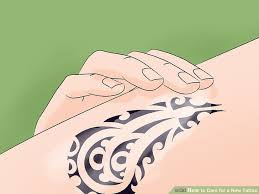 how to care for a new tattoo 13 steps with pictures wikihow