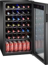 black friday wine fridge insignia 34 bottle wine cooler black ns wc34bk6 best buy